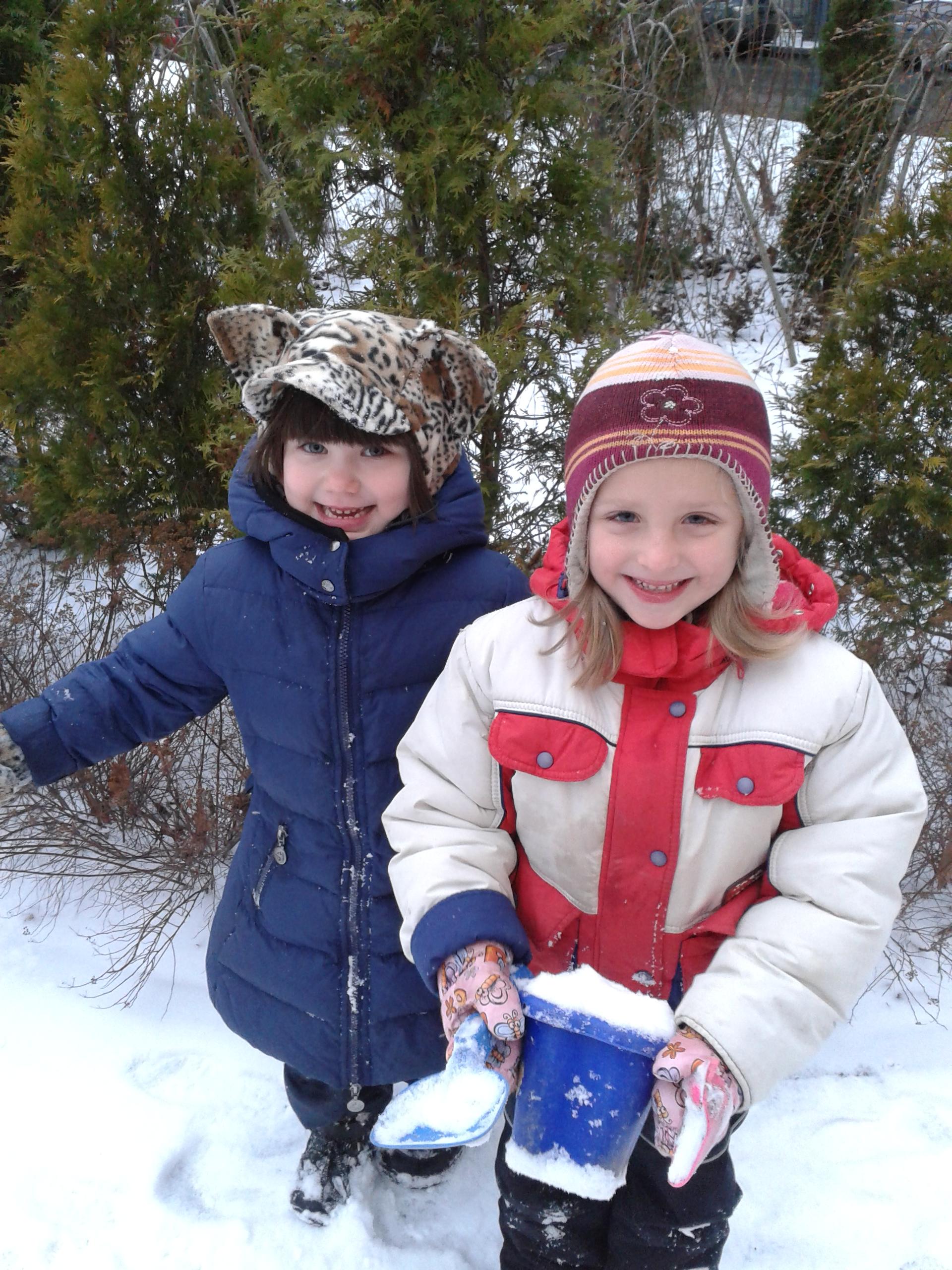 В чем вы гуляете с ребенком зимой фото